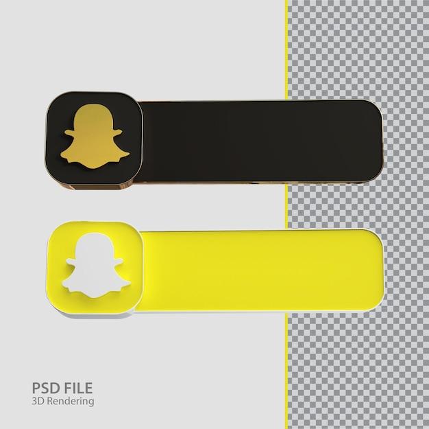 Criativo de rótulo snapchat de mídia social 3d