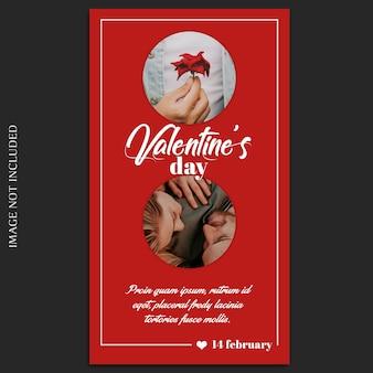 Criativo moderno dia dos namorados romântico instagram modelo de foto e foto mockup