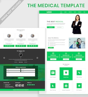 Criativo site médico psd design