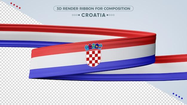 Croácia 3d render fita para composição