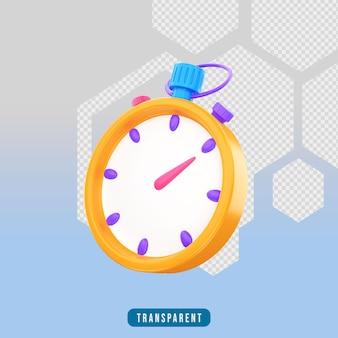 Cronômetro de ícone de renderização 3d