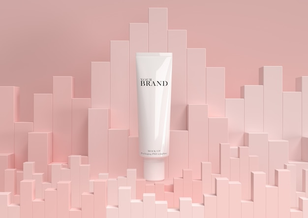 Cuidados com a pele hidratantes cosméticos produtos premium com fundo abstrato.
