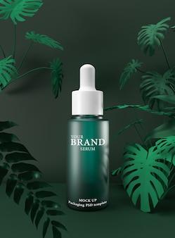 Cuidados com a pele hidratantes produtos cosméticos premium com verde.