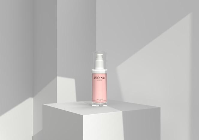 Cuidados com a pele produtos cosméticos cosméticos hidratantes premium psd.