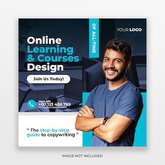 Cursos on-line publicação em mídia social e banner