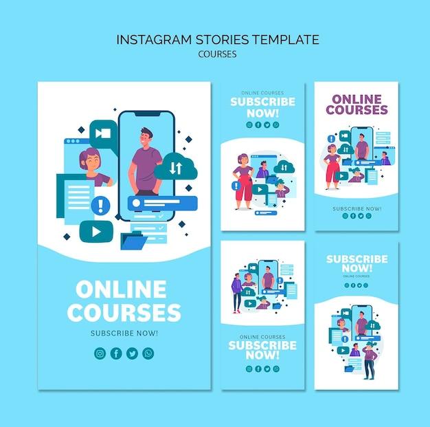 Cursos online coleção de histórias do instagram