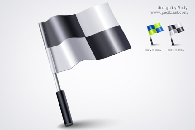 D bandeira ícone psd