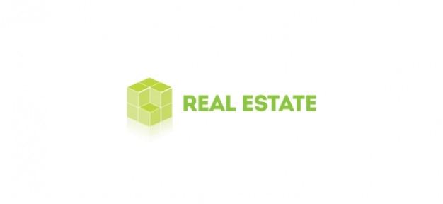D logotipo modelo para o setor imobiliário