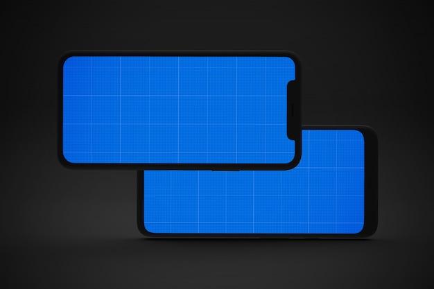 Dark two smartphones