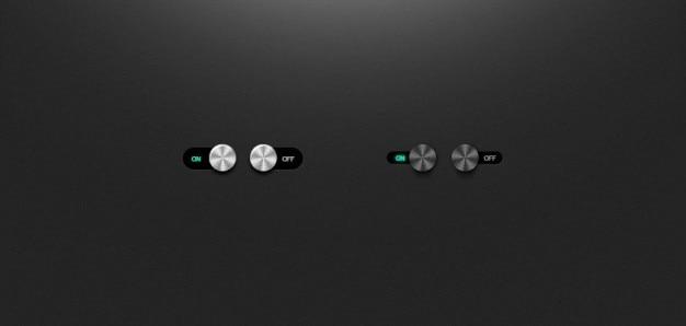 De metal ui interruptores e alterna