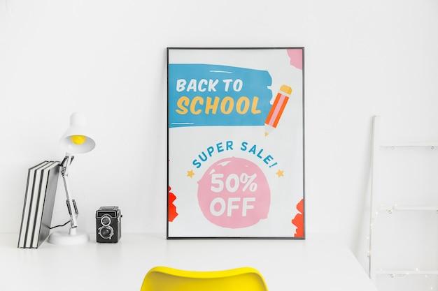 De volta ao projeto de banner de super venda de escola