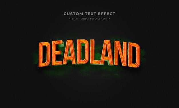 Deadland estilo de texto 3d