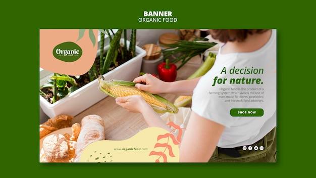 Decisão para modelo de banner da natureza