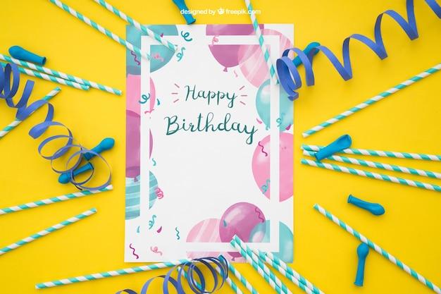 Decoração de cartões de celebração