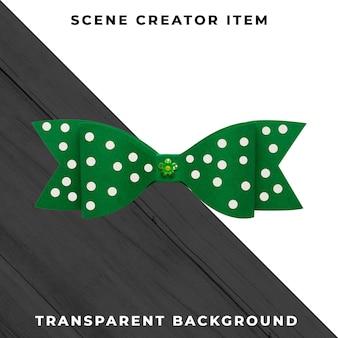 Decoração de gravata de papel isolada com traçado de recorte.