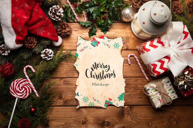 Decoração de natal com maquete de carta