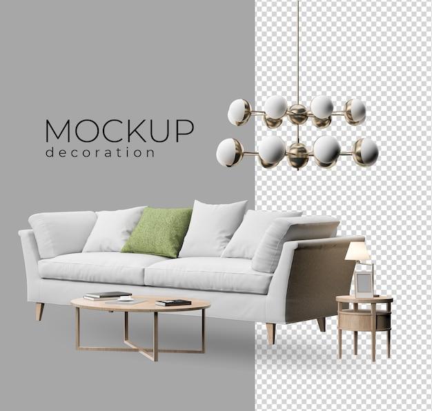 Decoração de sofás para escritório e casa