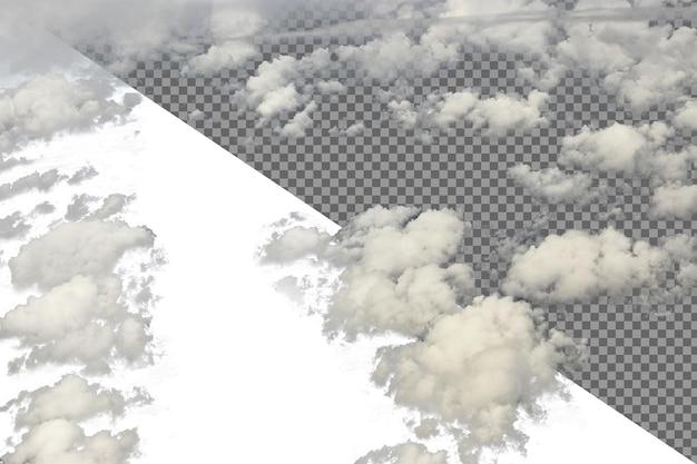 Densa fofa puffs nuvens brancas céu azul em atitude de alto nível,