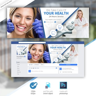 Dentista medical facebook timeline cover premium