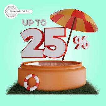 Desconto de até 25% em renderização 3d isolada Psd Premium