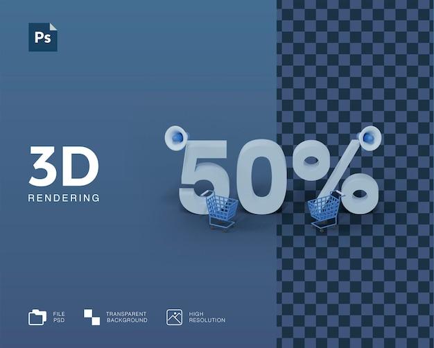 Desconto de ilustração 3d Psd Premium