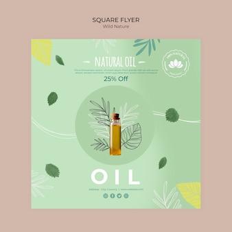 Desconto de panfleto quadrado de óleo natural