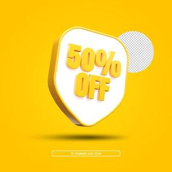 Desconto de venda de verão renderização em 3d