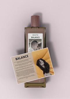 Descrição do perfume no frasco de perfume