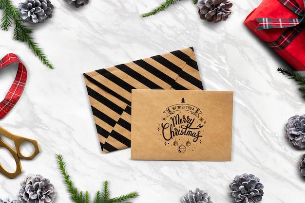 Desejamos-lhe uma maquete de cartão de feliz natal