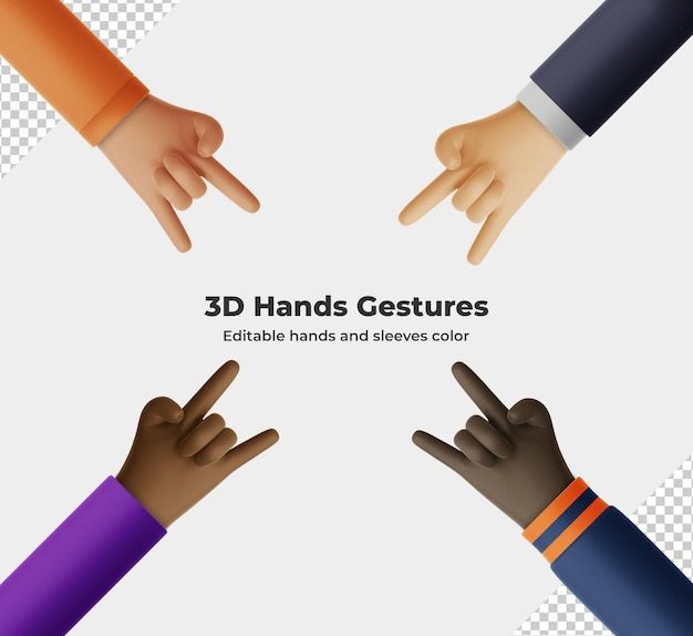Desenho 3d com gestos com as mãos