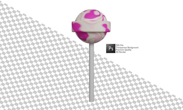 Desenho 3d da ilustração de doces