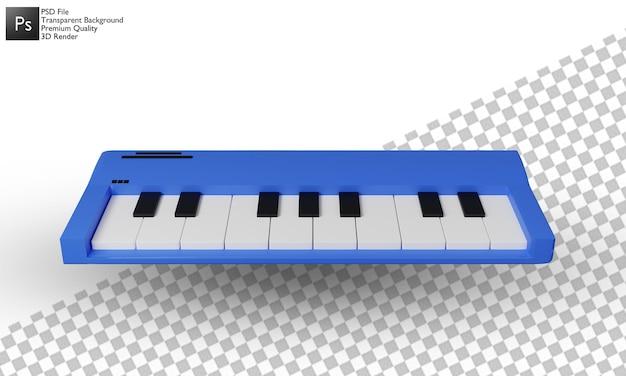 Desenho 3d de ilustração de piano