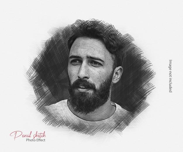 Desenho a lápis efeito fotográfico premium psd