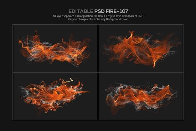 Desenho abstrato de efeito de fogo em renderização 3d