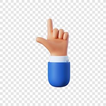 Desenho animado gesto de apontamento de mão de empresário