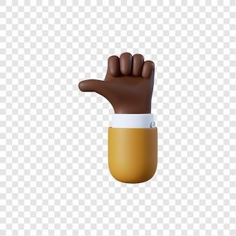Desenho animado gesto de polegar para cima do empresário afro-americano