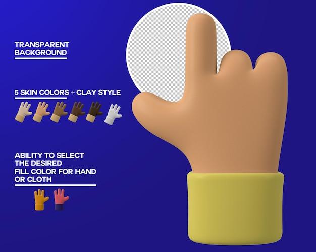 Desenho com mão apontando gesto