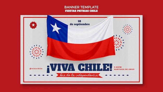 Desenho da bandeira do dia internacional do chile
