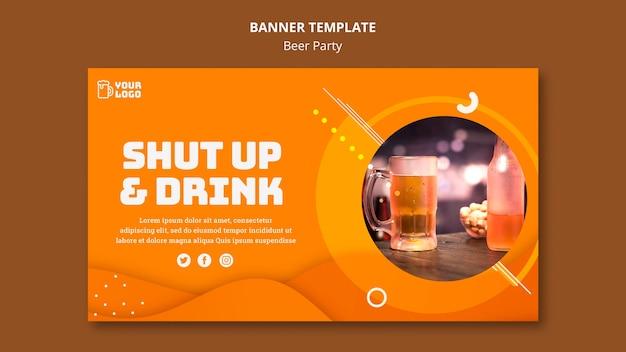 Desenho de banner de festa de cerveja
