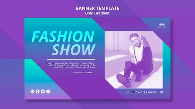 Desenho de banner de venda de moda