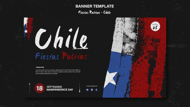 Desenho de banner do dia internacional do chile
