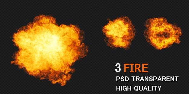 Desenho de explosão de fogo renderização isolada