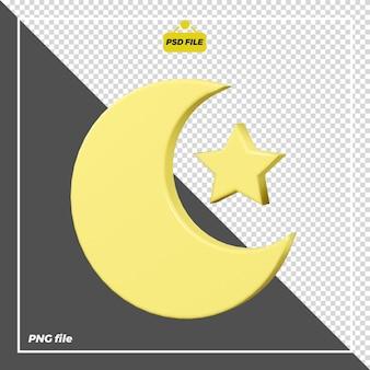Desenho de ícone 3d noturno