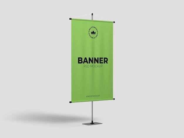 Desenho de maquete de banner de suporte isolado