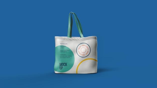 Desenho de maquete de bolsa de lona isolado