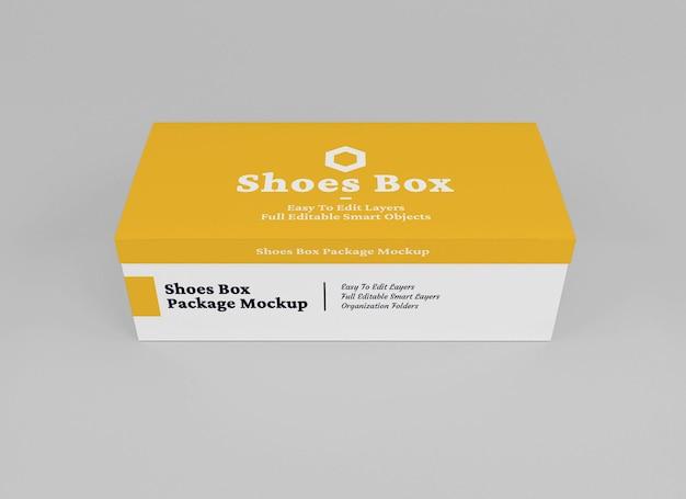 Desenho de maquete de caixa de sapatos isolado