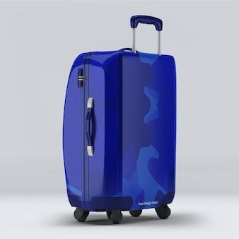 Desenho de maquete de mala de bagagem isolado