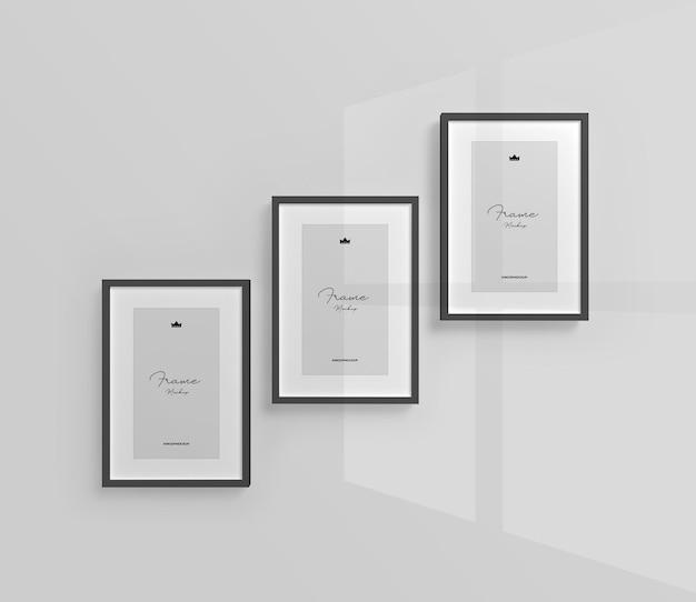 Desenho de maquete de porta-retratos isolado