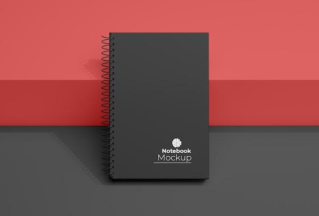 Desenho de modelo de caderno em espiral