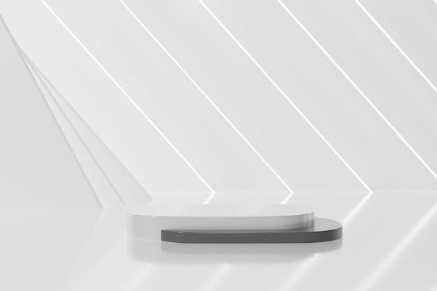 Desenho de pódio de renderização 3d
